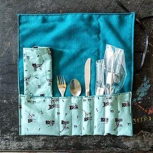handmade Kitchen - Reusable Utensils and Metal Straw Zero Waste Pack